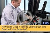 How Long Does it Take to Change Out Two Quickie Pulse Batteries? Video