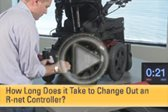 How Long Does it Take to Change Out an R-net Controller?