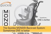 The Quickie MONO Backrest System: Sometimes ONE is better